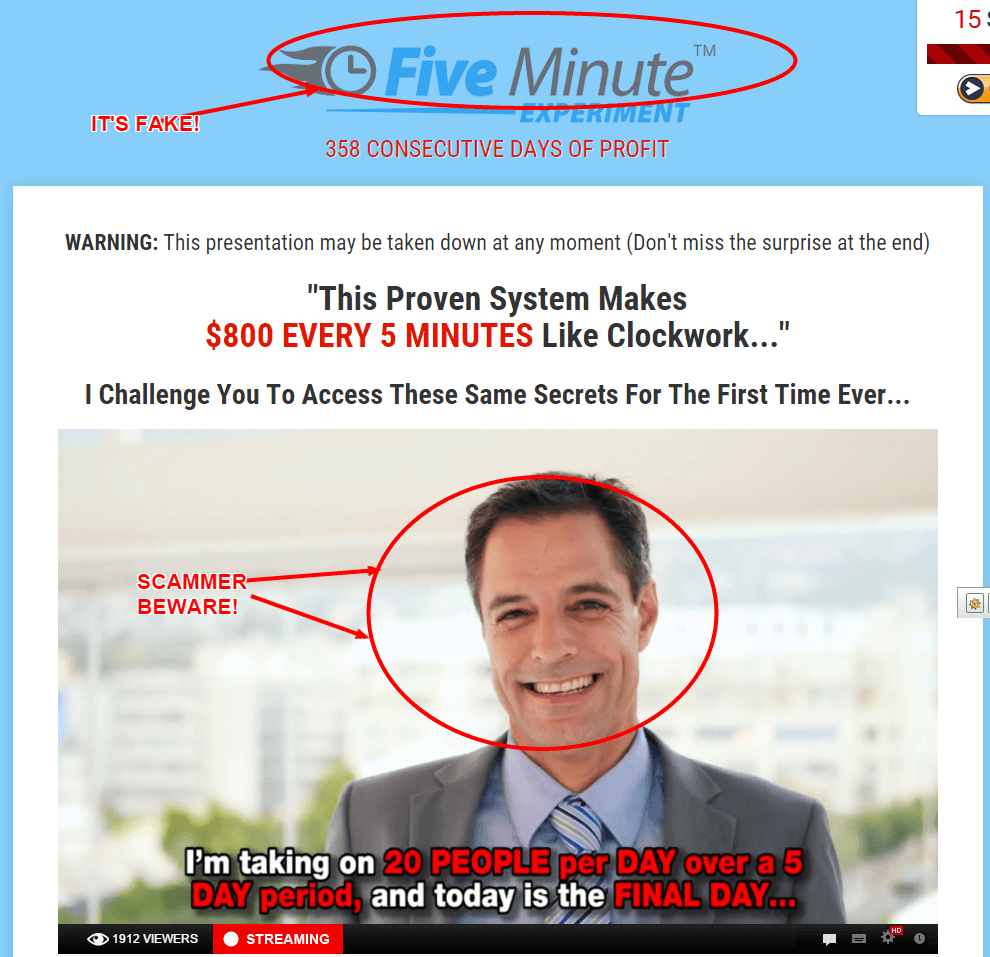 Five-Minute-Experiment Software Scam